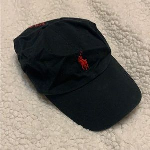 Black and red Polo Ralph Lauren hat